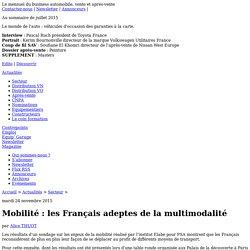 Mobilité : les Français adeptes de la multimodalité