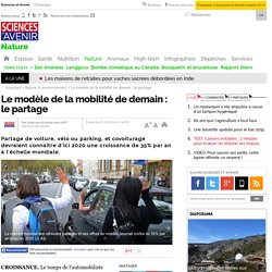Le modèle de la mobilité de demain : le partage- 7 octobre 2014
