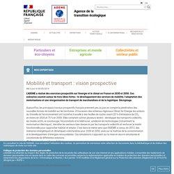 Mobilité et transport : vision prospective