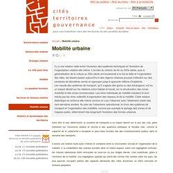 Mobilité urbaine - citésterritoiresgouvernance