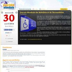 Journée Mondiale des Mobilités et de l'Accessibilité, le 30 avril
