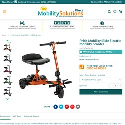 Pride Mobility iRide Electric Mobility Scooter – Mobility Solutions Direct 2018