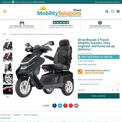 Drive Royale 3 Travel Mobility Scooter ( free engineer and home set up – Mobility Solutions Direct 2018