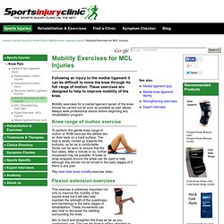 Mobility Exercises for MCL Injuries