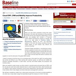 Cloud, CRM, ERP and Mobility Improve Productivity