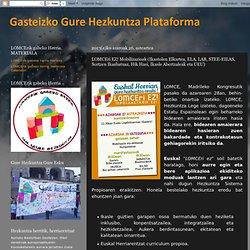 Gasteizko Gure Hezkuntza Plataforma: LOMCEri EZ! Mobilizazioak (Ikastolen Elkartea, ELA, LAB, STEE-EILAS, Sortzen Ikasbatuaz, Hik Hasi, Ikasle Abertzaleak eta UEU)