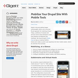 Mobilize Your Drupal Site With Mobile Tools