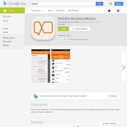 Mobilne Bezpieczeństwo - Android Apps on Google Play
