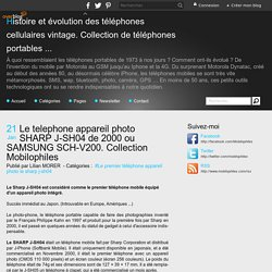 Le premier telephone (de collection) appareil photo en 2000 SHARP J-SH04 ou SAMSUNG SCH-V200 - Histoire et évolution des téléphones portables vintage rétro (Passionnés, collectionneurs...)
