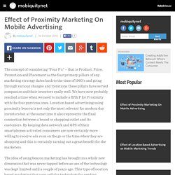 Effect of Proximity Marketing On Mobile Advertising