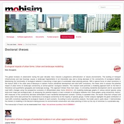 MobiSim - Doctoral theses