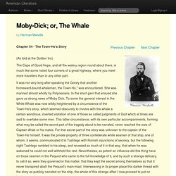 Moby Dick; or, The Whale by Herman Melville - Chapter 54 - The T