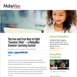 The Fun and Free Way to Fight 'Summer Slide' – a MobyMax Summer Learning Contest