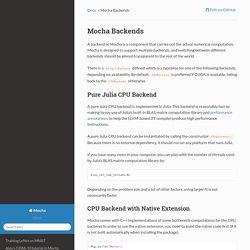 Mocha Backends — Mocha 0.1.0 documentation