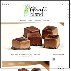 DIY Mocha Coffee Wax Melts - The Beaute Blend