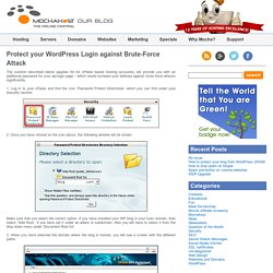 MochaHost's Blog » Blog Archive » Protect your WordPress Login against Brute-Force Attack