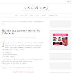 Mochila bag tapestry crochet by Rebelle Yarn - crochet envy