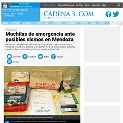 Mochilas de emergencia ante posibles sismos en Mendoza