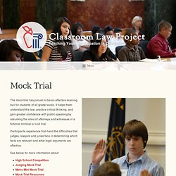 Mock Trial – Classroom Law Project