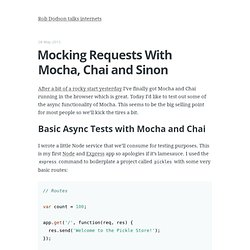 Mocking Requests with Mocha, Chai and Sinon