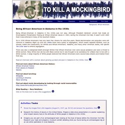 To Kill A Mockingbird: African-American