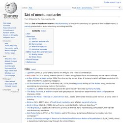 List of mockumentaries