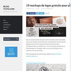 19 mockups de logos gratuits pour présenter vos designs - Blog Tuto.com