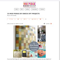 22 Mod Podge DIY knock off projects
