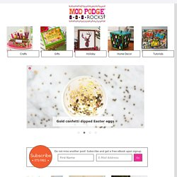 Mod Podge Rocks — Mod Podge Crafts and DIY
