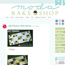 City Windows Table Runner
