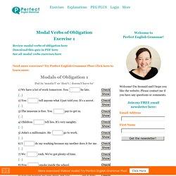 Modal Verbs of Obligation Exercise 1
