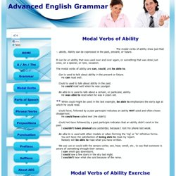Modal Verbs of Ability