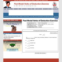 Past Modal Verbs of Deduction Exercise
