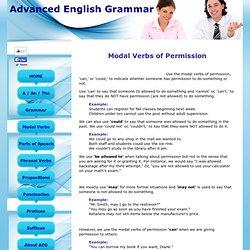 Modal Verbs of Permission