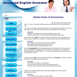 Modal Verbs of Permission