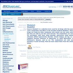 Buy Modalert online. Generic Modafinil 200 mg by Sun Pharma.