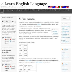 Verbos modales - English Modal Verbs - e Learn English Language