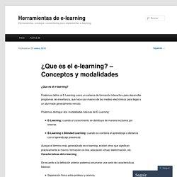 ¿Que es el e-learning? – Conceptos y modalidades