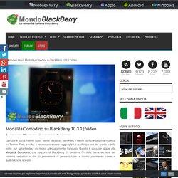 Modalità Comodino su BlackBerry 10.3.1