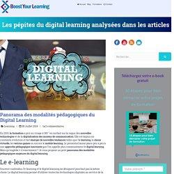 Panorama des modalités pédagogiques du Digital Learning