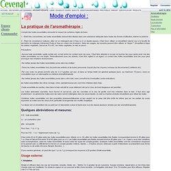 Utilisation huiles essentielles pearltrees - Mode d emploi radiateur bain d huile ...