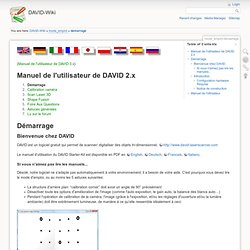 mode_emploi:demarrage [DAVID-Wiki]