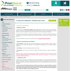 Le mode CMJN en imprimerie : différence entre CMJN et RVB