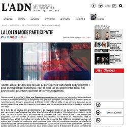 La loi en mode participatif - DE LA TRANSPARENCE