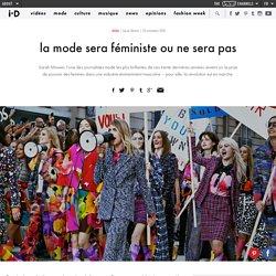 la mode sera féministe ou ne sera pas