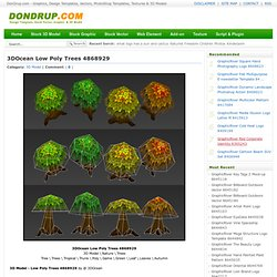 3D Model - 3DOcean Low Poly Trees 4868929
