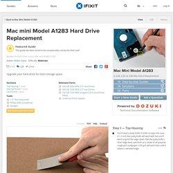 Mac mini Model A1283 Hard Drive Replacement