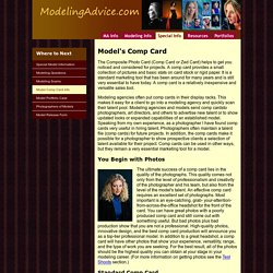 Model's Comp Card Information
