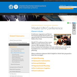 Model UN Conference Planner's Guide