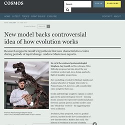 New model backs controversial idea of how evolution works